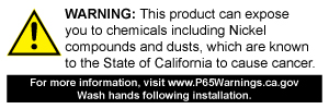 WARNING: This product can expose you to chemicals including Nickel,  which is known to the State of California to cause cancer.
